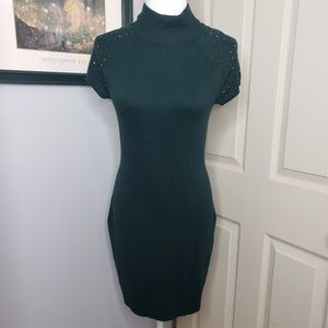 New! Apt 9 Green Sweater Dress Embellished Size Sm